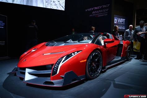 How Much Is The Lamborghini Veneno Roadster Ces 2014 Lamborghini Veneno Roadster With Audio