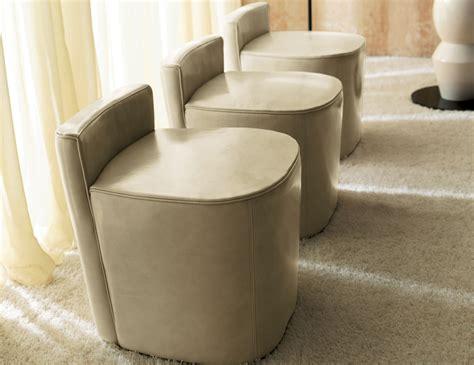 round upholstered ottomans ulivi sonny round ottoman cream leather nella vetrina
