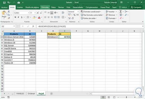 tutorial para usar vlookup c 243 mo ordenar y buscar datos vlookup y buscarv excel 2016