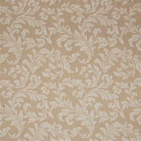 Neutral Upholstery Fabric by Oatmeal Neutral Floral Upholstery Fabric