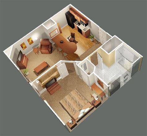 one room house plans