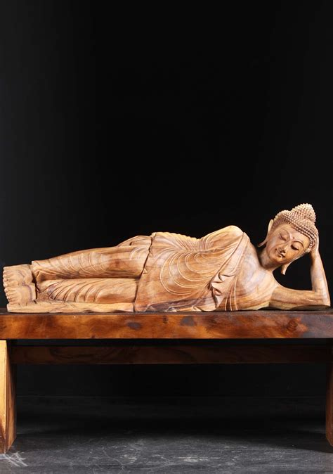 the reclining lotus sold wooden reclining buddha statue 41 quot 102bw10 hindu