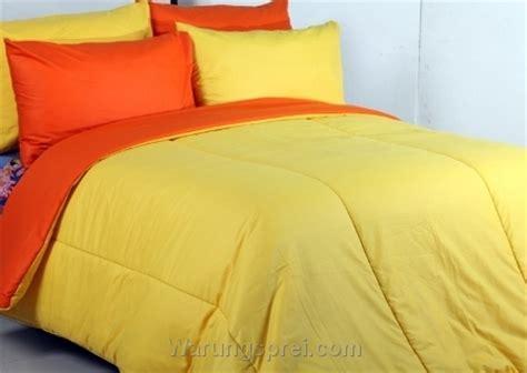 Sprei Polos Orange 200x200x40 Cm sprei polos orange kuning warungsprei