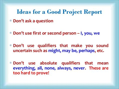 how to write project paper how to write a project report
