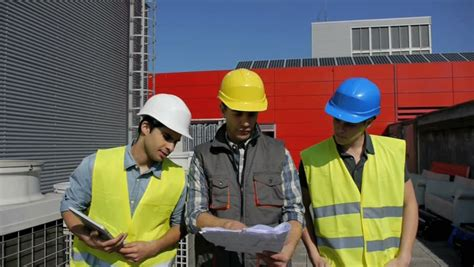 Construction Foreman by Construction Foreman On Site Stock Footage 2028850