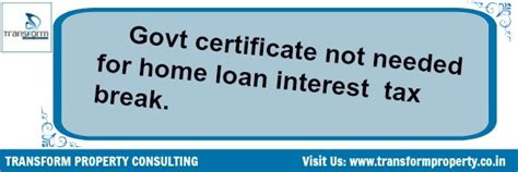 income tax housing loan interest housing soc letter enough to claim loan interest benefit itat transform property consulting