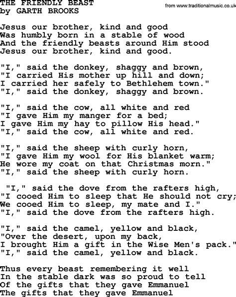 100 the gift christmas song lyrics garth brooks the