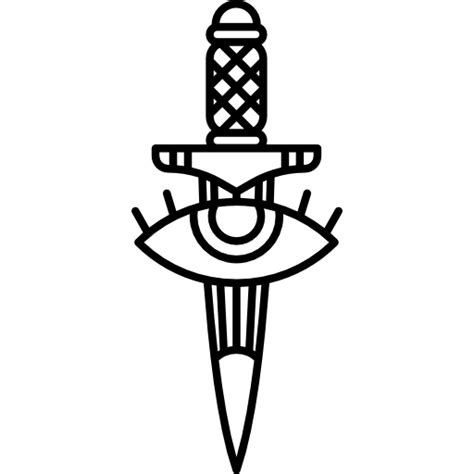 new tattoo png ete vintage old school knife weapons weapon tattoo icon