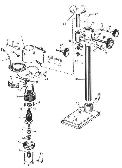 gmc drill press sensitive drill press parts dumore series 16 sensitive