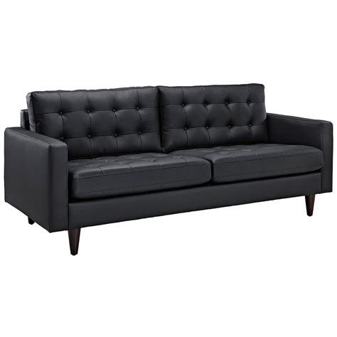 Black Leather Sofa Modern Modern Black Leather Sofa Madison Modern Black Leather