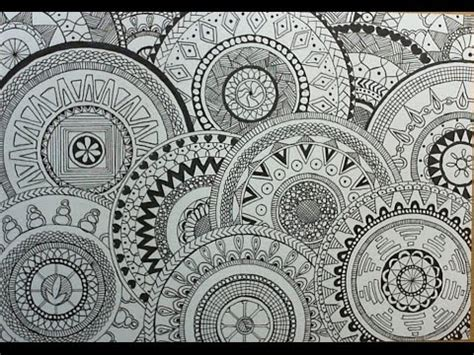 circle pattern drawings tumblr how to draw circle doodles mandala youtube