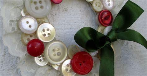 vintage button wreath ornaments hometalk
