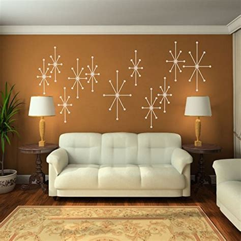 mid century vinyl wall decals vinyl atomic starbursts wall decal mid century modern w
