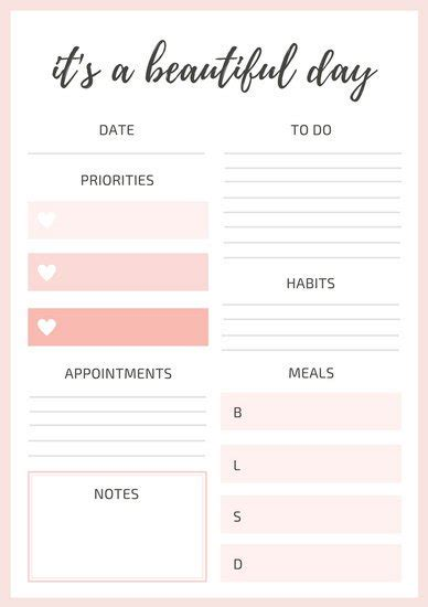canva weekly planner customize 94 daily planner templates online canva