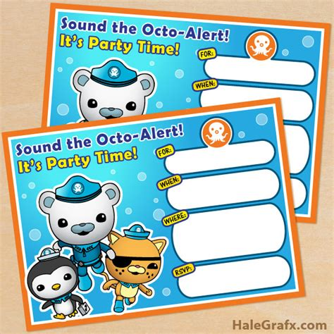 octonauts templates free printable octonauts birthday invitation