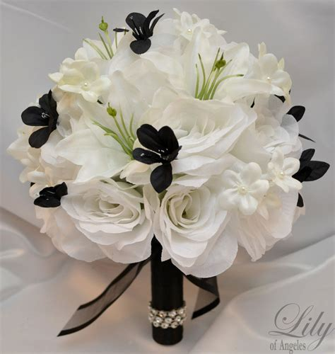 Silk Flower Bouquets For Weddings by 17pcs Wedding Bridal Bouquet Set Decoration Silk Flower