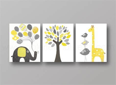 chambre enfant jaune lot de 3 illustrations pour chambre d enfant et bebe jaune
