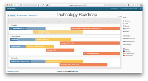 process road map templates three exle technology roadmap templates