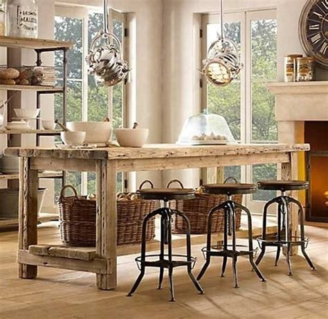 rustic kitchen island table 32 simple rustic kitchen islands