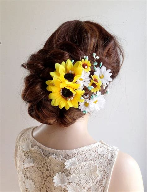 Wedding Hair Accessories Daisies by 1000 Images About Wedding On Sunflower