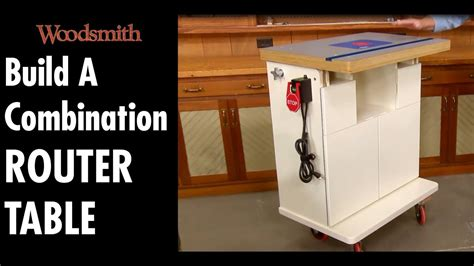 build  combination router table part  youtube