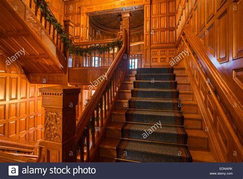 interior staircase  woodwork  craigdarroch castle