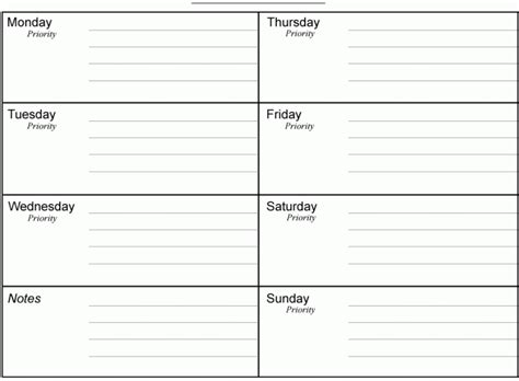 10 Weekly Planner Templates Word Excel Pdf Formats Weekly Planner Template Word