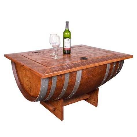 Wine Barrel Distressed Finish Coffee Table At Brookstone Wine Barrel Coffee Table Plans