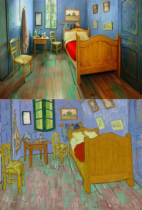 the bedroom gogh the institute of chicago recreates gogh s