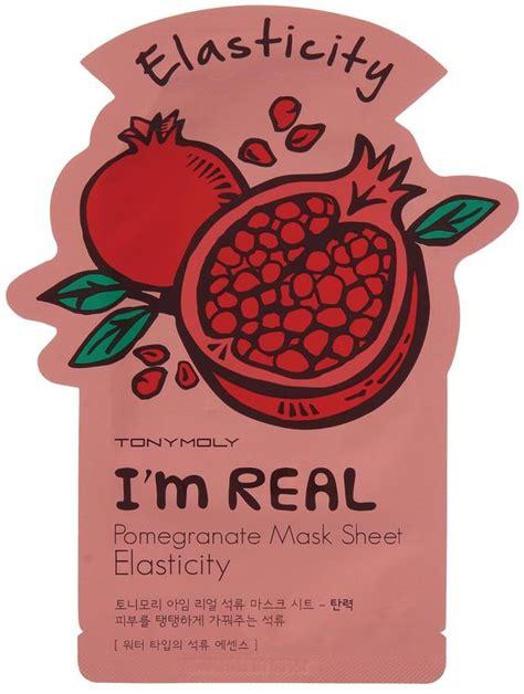 Masker Tony Moly I M Real tony moly i m real pomegranate mask sheet elasticity