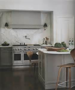 gray cabinets marble backsplash kitchen design pinterest