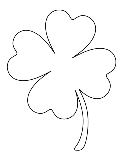 four leaf clover template large four leaf clover pattern