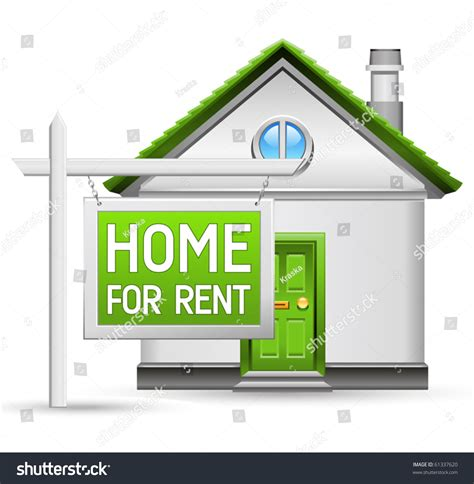 home for rent home rent icon stock vector 61337620