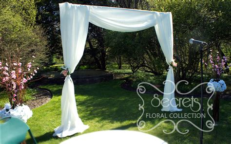 Our Modern Wedding Arch Draped With Soft White Voile