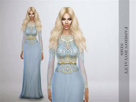 sims 4 royalty dresses lightblue royalty gown at fashion royalty sims 187 sims 4