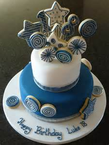 starburst cake toppers on 18th birthday cake