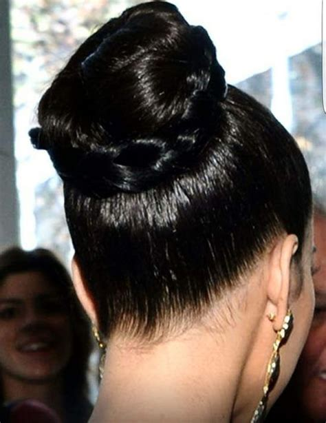 topknot hair on indian oiled top knot bun with braid slick pinterest indian