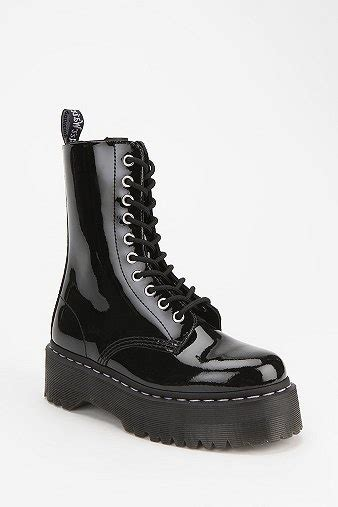 Outfitters Platform Shoe Boots by Agyness Deyn For Dr Martens Aggy 1490 10 Eye Flatform