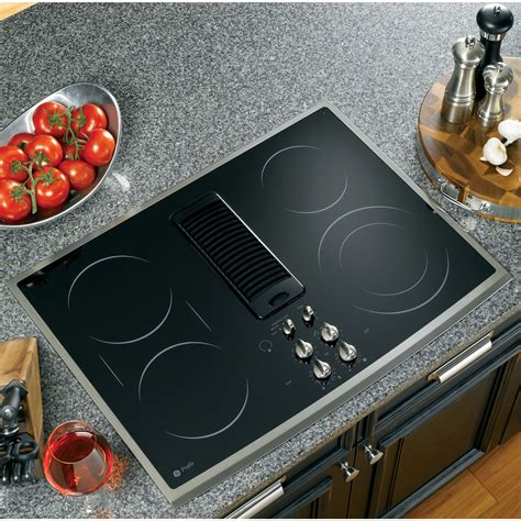 ge profile series ppsnss  electric downdraft cooktop