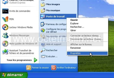 activer bureau à distance windows 7 windows xp bureau 224 distance activer l autorisation 224