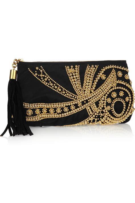 Emilio Pucci Silk Clutch Bag by Emilio Pucci Beaded Silk Clutch In Black Lyst