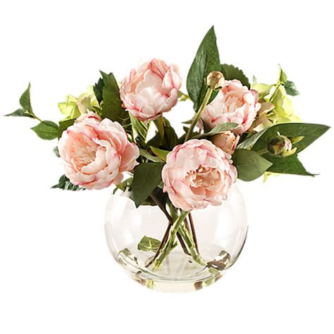 Fish Bowl Vases With Flowers by Buy Peony Pink Peonies In Fish Bowl Vase At
