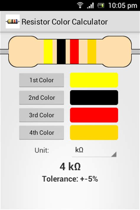 resistor color calculator resistor color calculator android apps on play