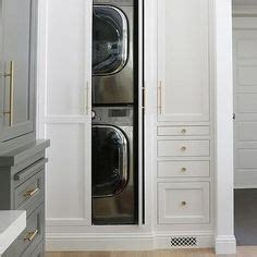 concealed stacked washer and dryer transitional concealed stacked laundry shea mcgee design laundry