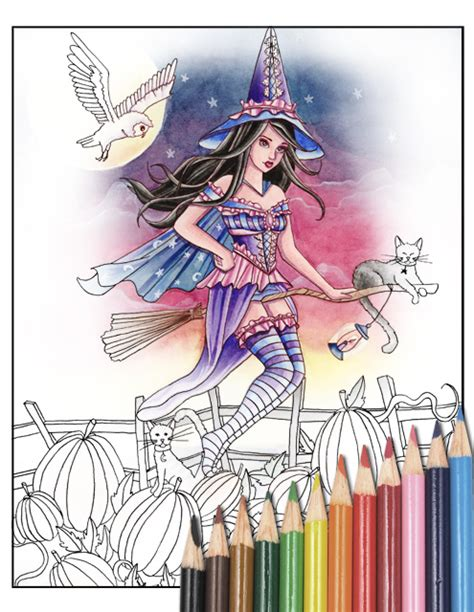 witches bewitching bedlam volume 4 books spellbinding images a coloring book of witches