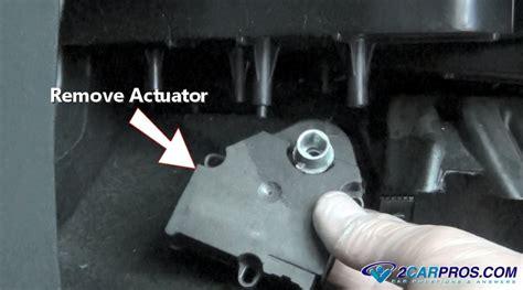 replace  blend door actuator    minutes