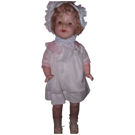 shirley temple composition doll for sale large shirley temple type composition doll from