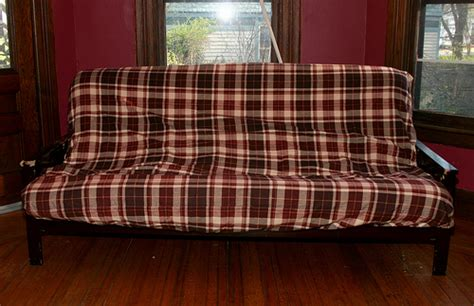 plaid futon cover plaid futon cover bm furnititure