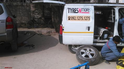 at home tyre change balancing tyresnmore delhi