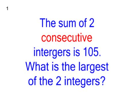 smart exchange usa consecutive integers